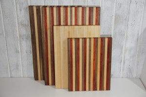 Chop Blocks - Classic, Walnut_Padauk_Maple, and All Maple