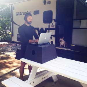 RV life- stand-up desk